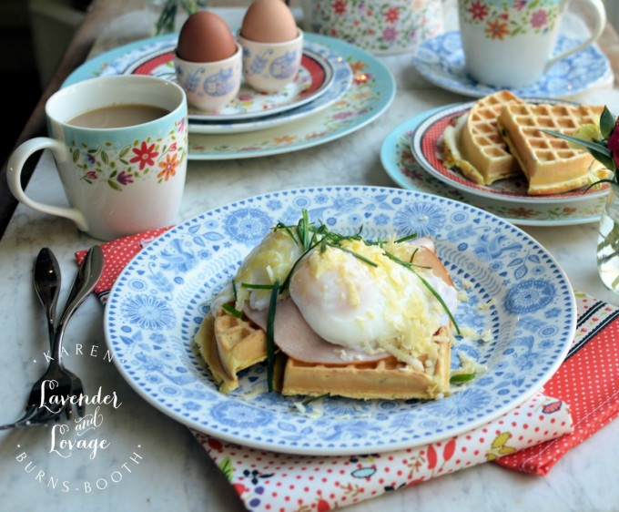 Waffles with Poached Eggs