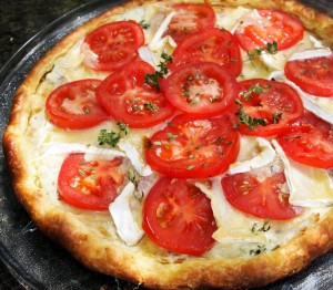 Ethel's Old Thyme Goat's Cheese and Tomato Tart