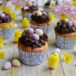 Easter Nest Cupcakes for the Easter Weekend Tea Time Table