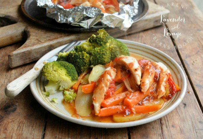 Chutney Chicken and Vegetable Parcels