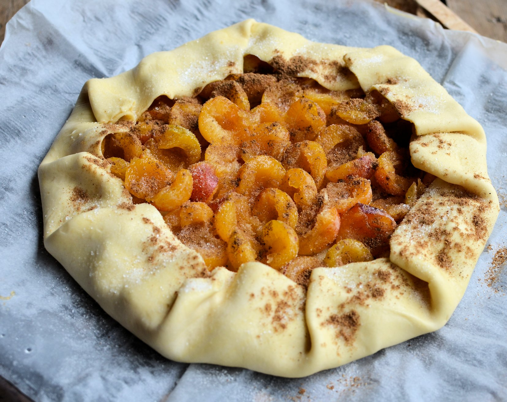 Ready to bake: Mirabelle Galette