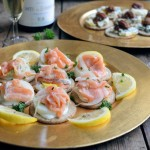 A Duet of Christmas Canapés and Champagne