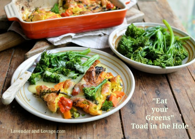 """Tenderstem® """"Eat your Greens"""" Toad in the Hole"""