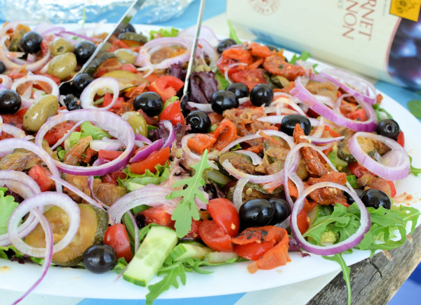 Picnics, Salads and Paella! Under the Willow Tree with Salmon Spread and Russian Salad