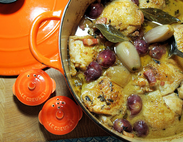 Chicken with Black Grapes and Marsala Sauce