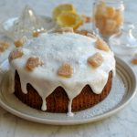 Frosted Ginger Cake with Crystallised Ginger